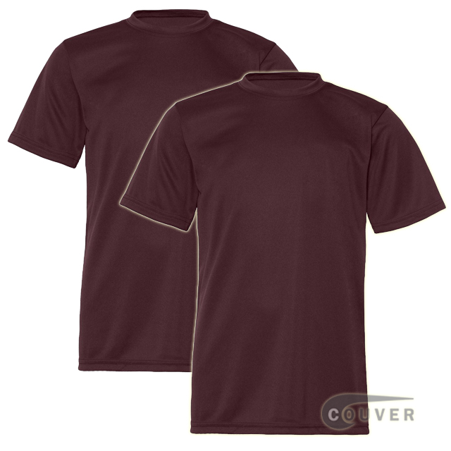 C2 Sport Youth Performance Tees Maroon - 2 Pieces Set