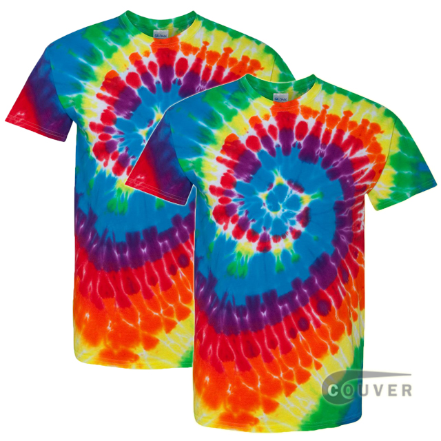 Tie-Dyed Short Sleeve T-Shirt 2 Pieces Set - Michelangelo Swirl