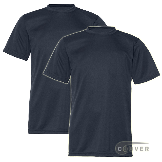 C2 Sport Youth Performance Tees Navy - 2 Pieces Set
