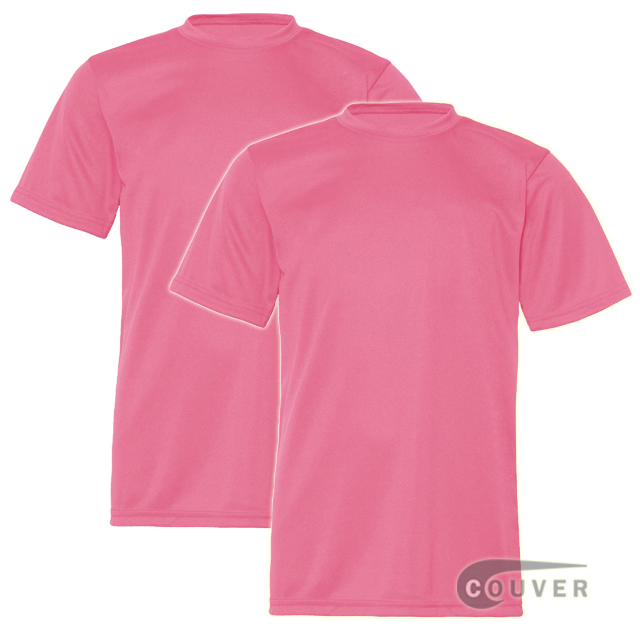 C2 Sport Youth Performance Tees Pink - 2 Pieces Set