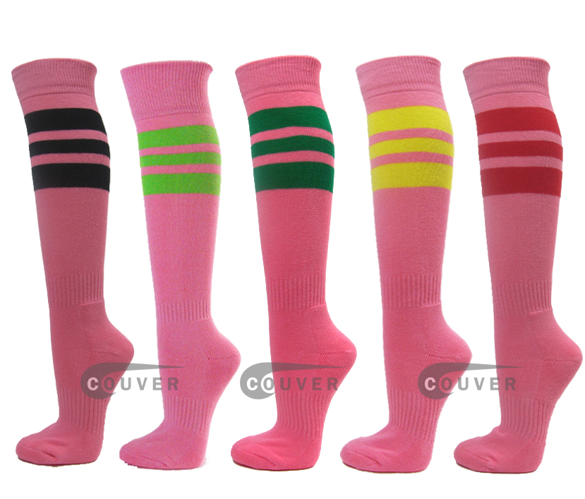 Pink Athletic Socks Wholesale