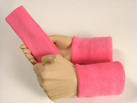 Pink Sweatbands Set Wholesale