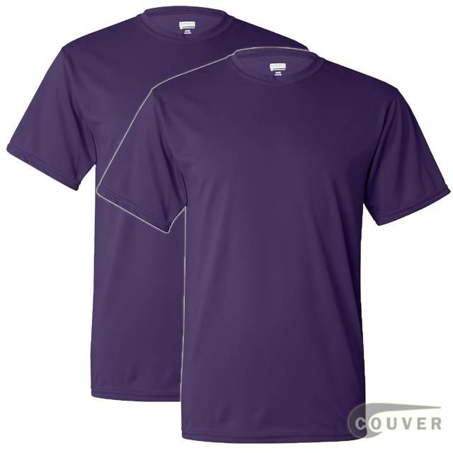 100% Poly Moisture Wicking T-Shirt - 2 Pieces Set(Purple)