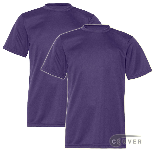 C2 Sport Youth Performance Tees Purple - 2 Pieces Set