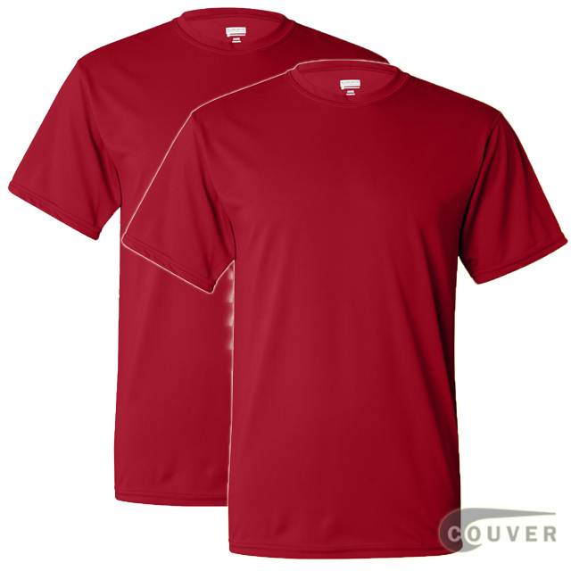 100% Poly Moisture Wicking T-Shirt - 2 Pieces Set(Red)
