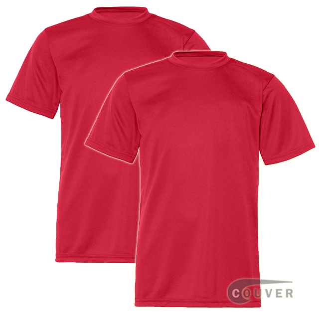 C2 Sport Youth Performance Tees Red - 2 Pieces Set