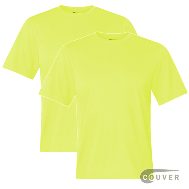 Champion Men's Double Dry Performance T-Shirt 2 Pieces Set - SafetyGreen