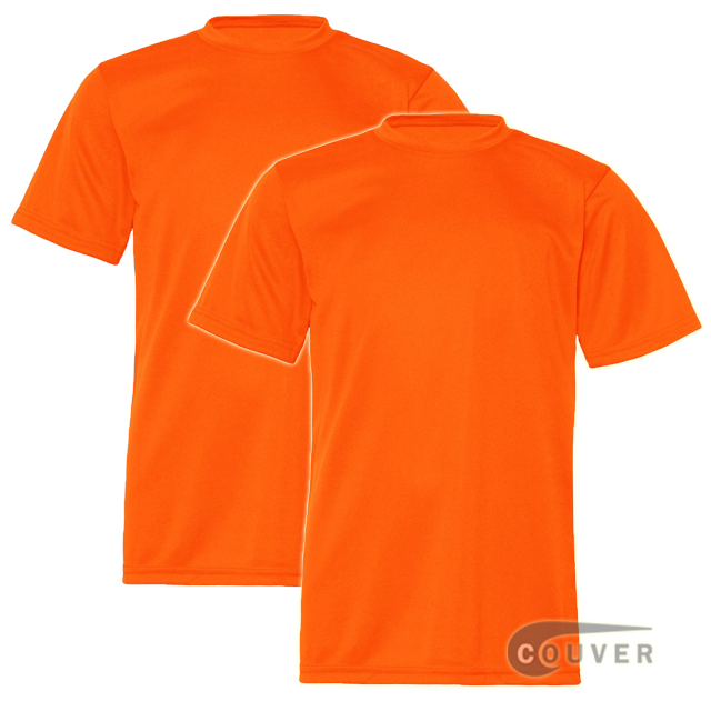C2 Sport Youth Performance Tees Safety Orange - 2 Pieces Set