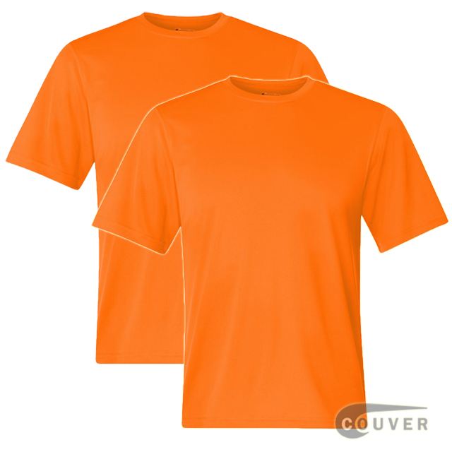 Champion Men's Double Dry Performance T-Shirt 2 Pieces Set -SafetyOrange