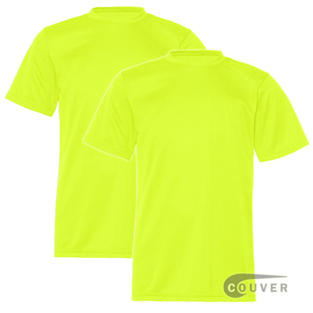 C2 Sport Youth Performance Tees Safety Yellow - 2 Pieces Set