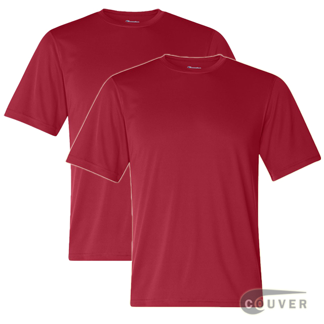 Champion Men's Double Dry Performance T-Shirt 2 Pieces Set - Scarlet