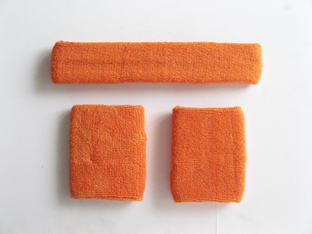 Light Orange Sweatbands Set