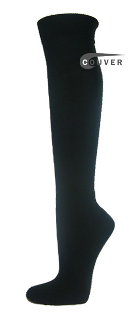 WHOLESALE Premium Quality Couver BLACK Athletic Sports High Socks 1Dozen