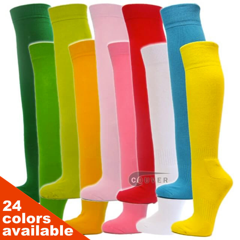 COUVER Premium Quality Softball Baseball Sports Knee Socks 3PAIRS