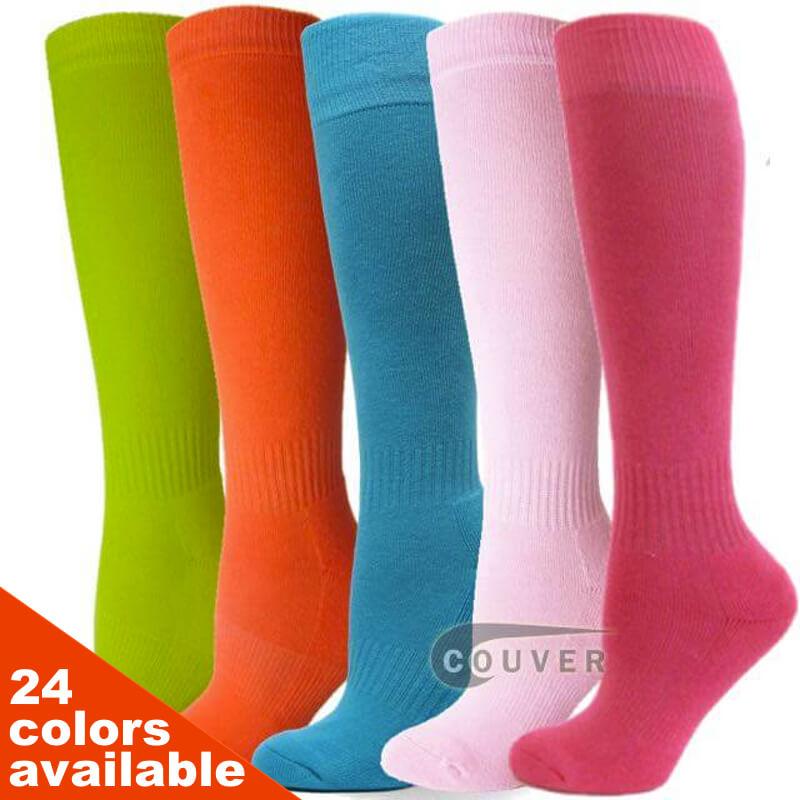 b827f6639 COUVER Youth Sports Softball Baseball Knee High Socks 3PAIRs ...