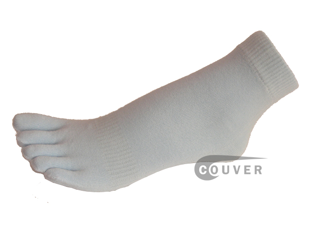 Baby Blue COUVER 5finger Toed Ankle Toe Socks Wholesale, 6PRs