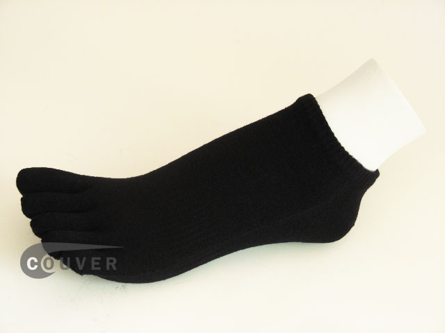 Black no show 5Finger Toe Socks Wholesale from Couver, 6PAIRS