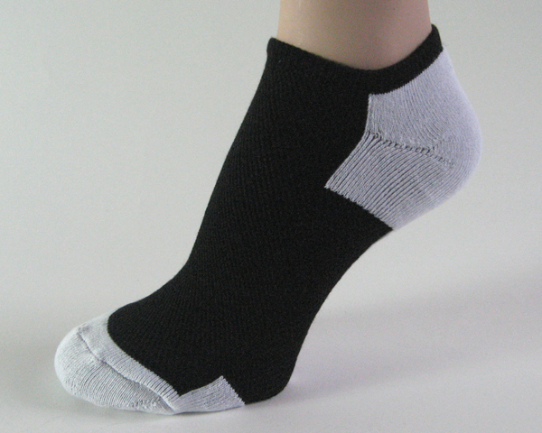 Black light gray no show athletic running socks breathable mesh