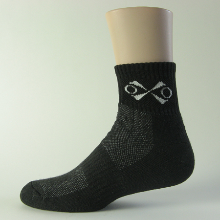 Black running over ankle socks with x logo 3PAIRS