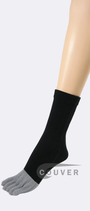 Bamboo Charcoal Fabric Black Toe Socks Wholesale from Couver6PRS