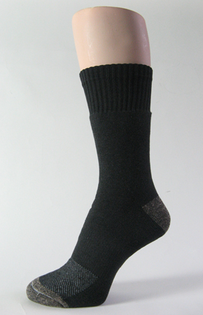 Black trekking socks mid calf crew mid weigh