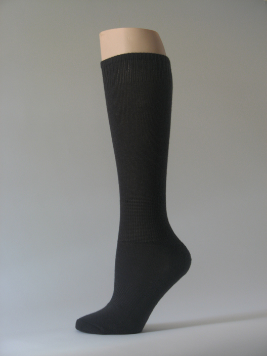 Black kids youth soccer socks for children knee high