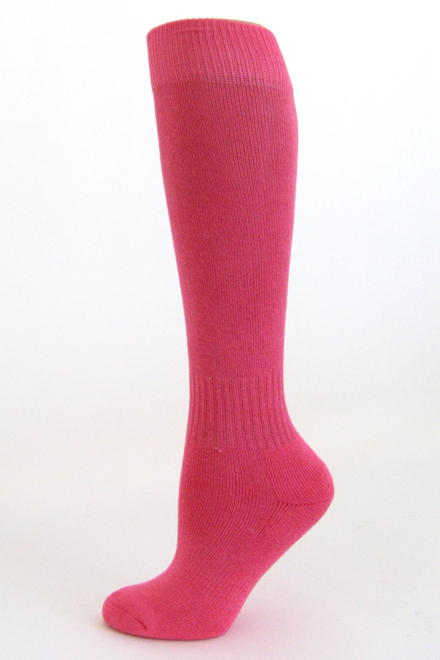 Youth Bright Pink Sports (Football Soccer Softball Baseball) Knee Socks COUVER