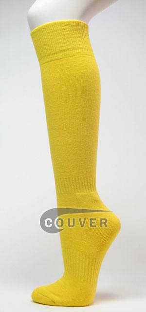 Bright Yellow Couver Softball Baseball Sports Knee Socks 3PAIRS