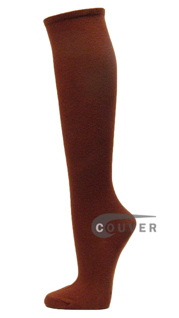 Brown Cotton Fashion/Casual Knee High Sock from Couver 6PAIRS