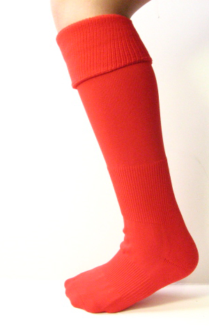Red Kids Child Youth Soccer Socks Knee High Length 3PAIRS