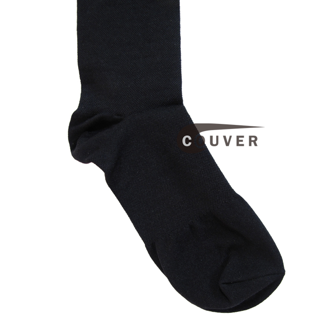 couver compression Over-the-calf Knee High Travel and Dress Unisex socks feet view CMPS70-BLK