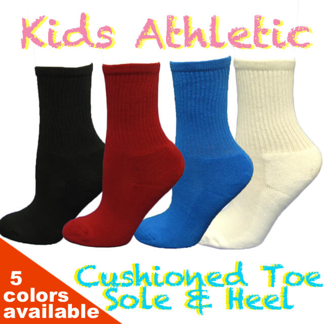 Couver Kids Youth Over the Ankle Sports/Softball/Baseball etc Socks 6PRs