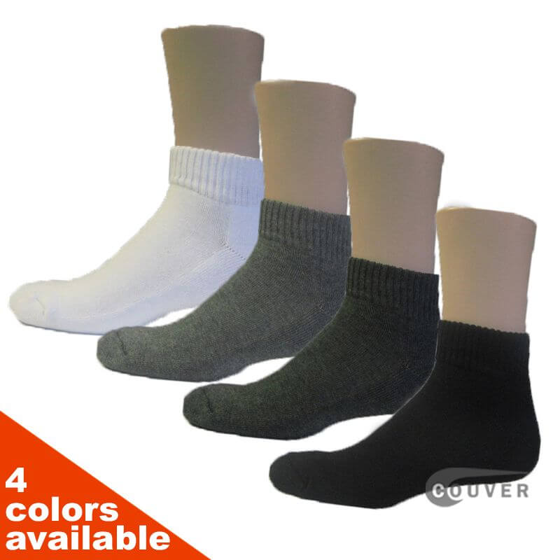 Couver Running Athletic Low Cut Ankle Socks Terry Cushion sole 6PAIRS