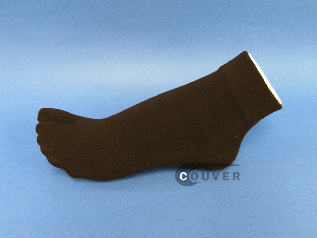 Brown Split Toed Toe Socks Wholesale from Couver 6PAIRS
