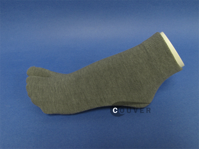 Gray Split Toed Toe Socks Wholesale from Couver 6PAIRS