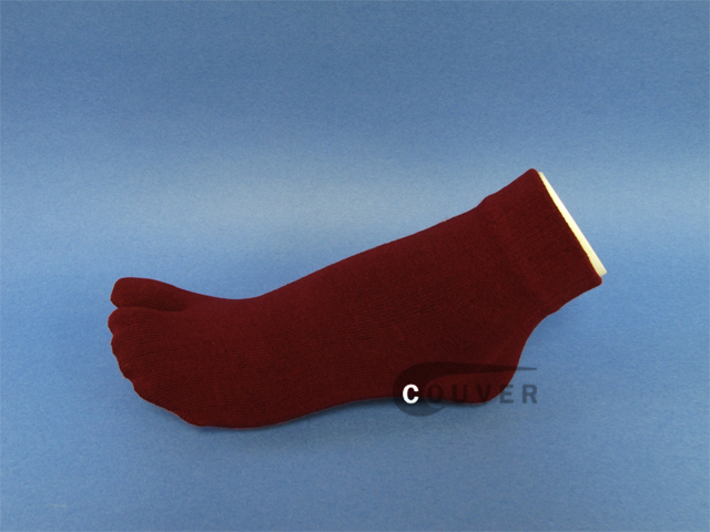 Burgundy/Wine Split Toed Toe Socks Wholesale from Couver 6PAIRS