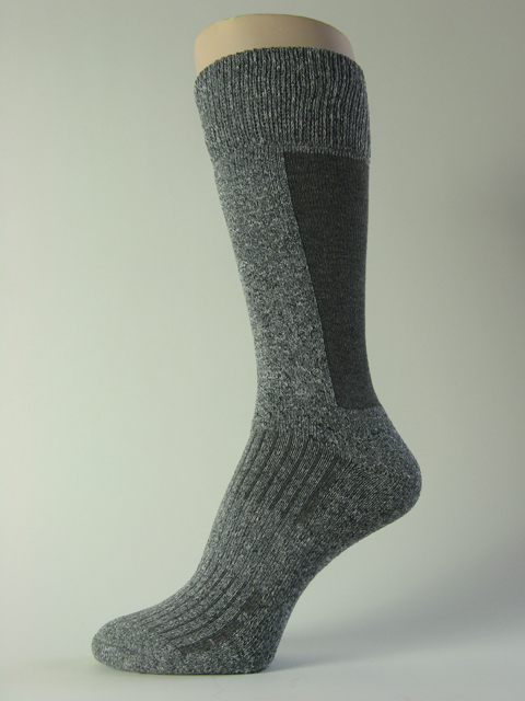 Extra cushioned shin trekking sock heather gray mid calf