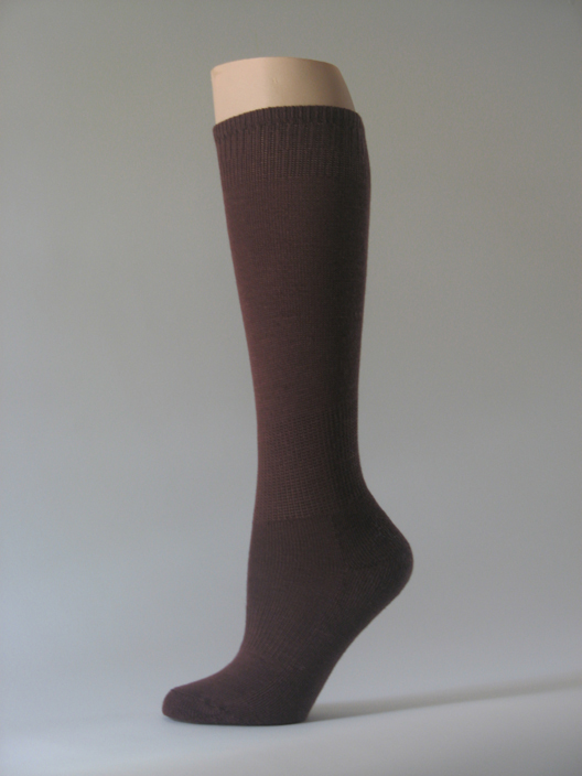 Brown kids youth soccer socks for children knee high