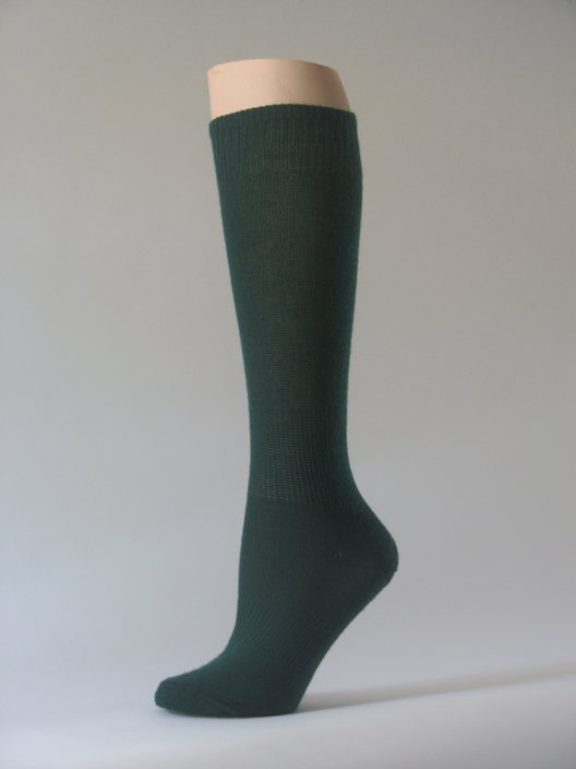 Dark green kids youth soccer sock for children knee high