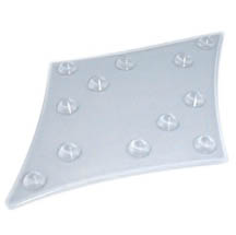 Diamond clear stomp pad for snowboard