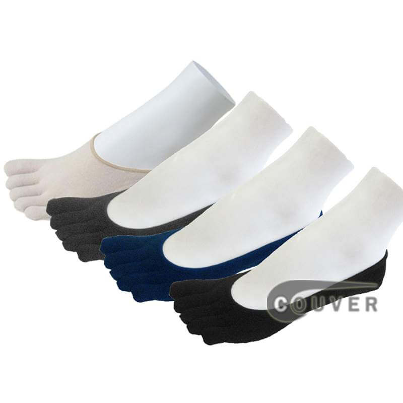 COUVER super low cut 5Finger Toed Socks Wholesale, 6PAIRs