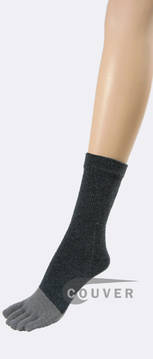 Bamboo Charcoal Fabric Gray/Grey Toe Socks Wholesale 6PRS