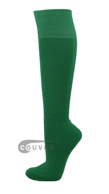 Green Couver Plain Knee High Soccer Socks[3Pairs]