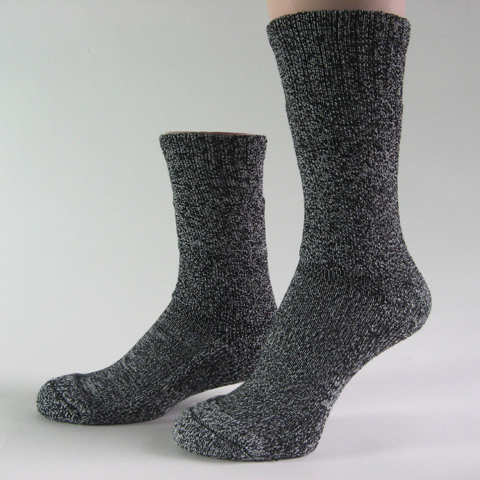 Heather charcoal trekking socks w COOLMAX mid calf medium weight