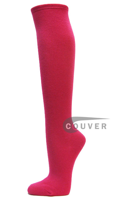 HotPink Cotton Fashion/Casual Knee High Socks from Couver 6PAIRS