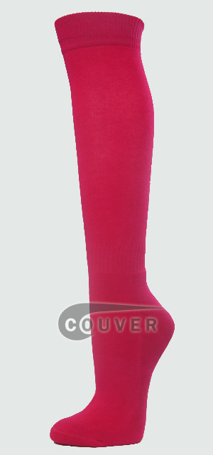 Hot Pink Couver Softball Baseball Sports Knee Socks 3PAIRS