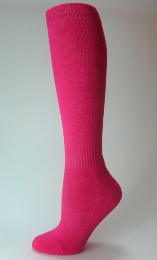 Youth Hot Pink Sports (Football Soccer Softball Baseball) Knee Socks COUVER