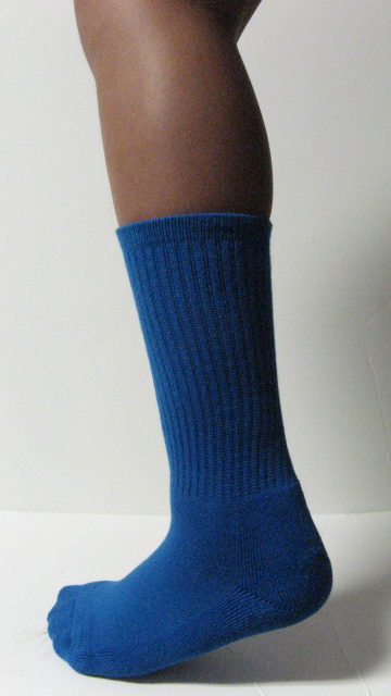 Blue Youth Junior Athletic Crew Socks Mid-Calf Length Wholesale 6Pairs
