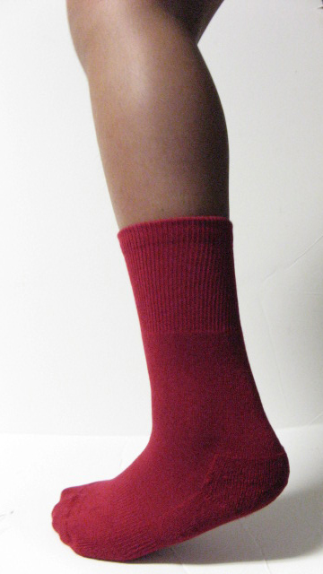 Dark Red Kid Youth Mid-calf Baseball Softball Socks Wholesale 6PAIRs