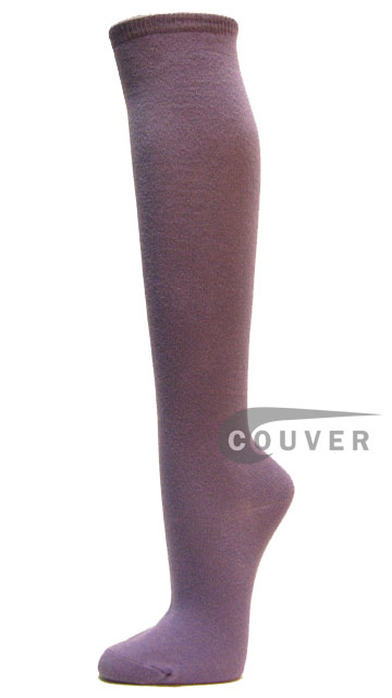 Lavender Cotton Fashion/Casual Knee High Sock from Couver 6PAIRS